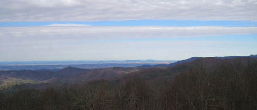 View from Rich Mountain Firetower