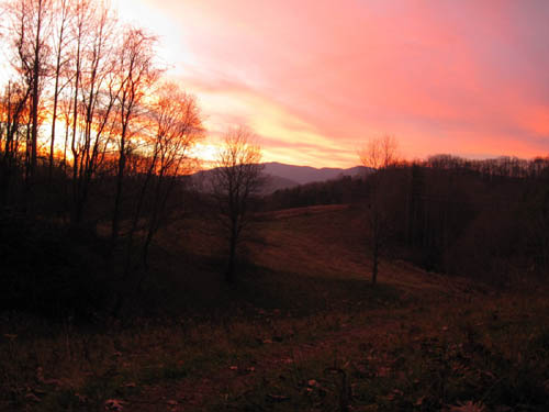 Sunset at Devil Fork Gap