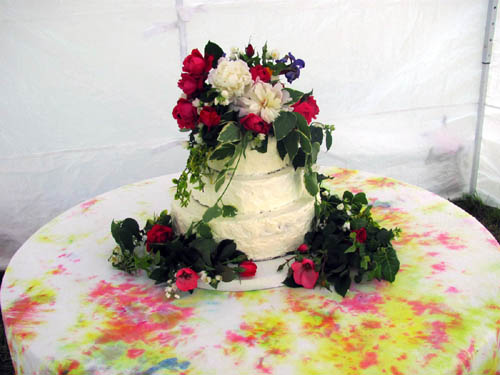 Hoppy and Birdy Wedding Cake