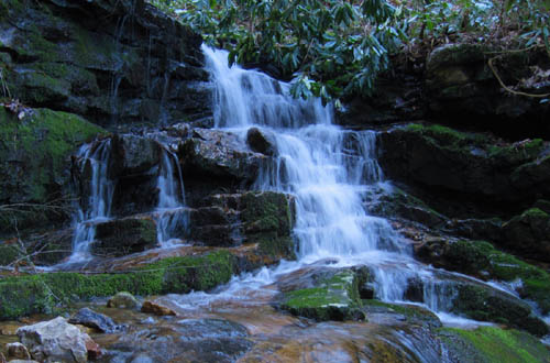 Falls on South Fork of Devils Fork Valley