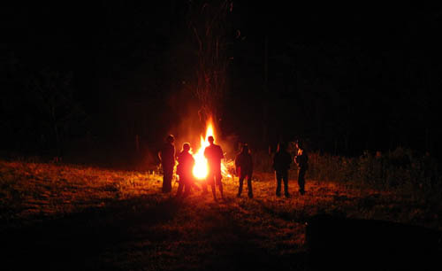 Bon Fire after the Hoppy and Birdy Wedding